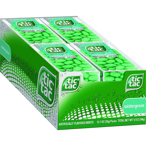 Tic Tac Fresh Breath Mints, Wintergreen, Big Pack Candy Mints (1 oz.) - 12 Count Box