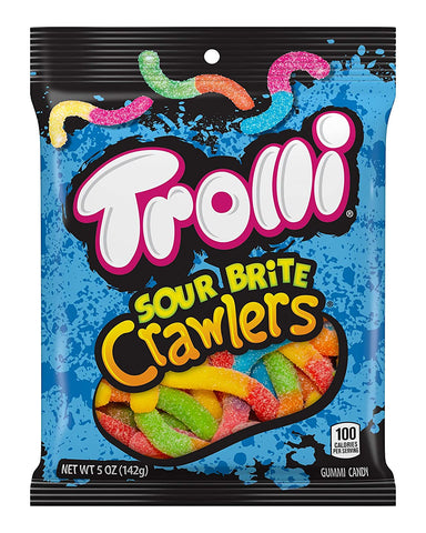 Trolli Sour Brite Crawlers Candy (5 oz) - 12 Count