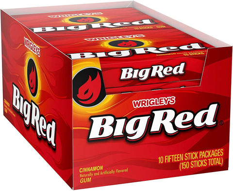 Wrigley's Big Red Chewing Gum, (15 pieces) - 10 Count