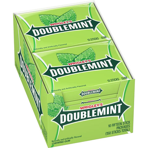 Wrigley's Doublemint Chewing Gum, (15 pieces) - 10 Count