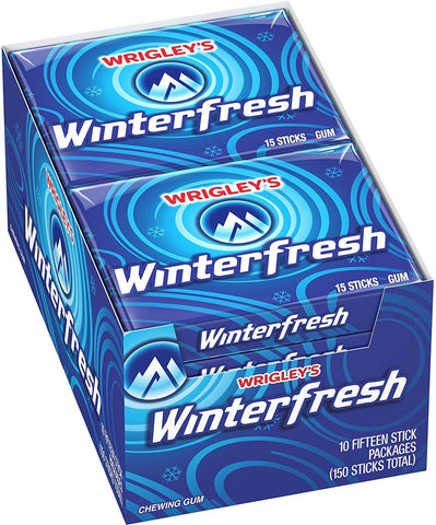 Wrigley's Winterfresh Chewing Gum, (15 pieces) - 10 Count