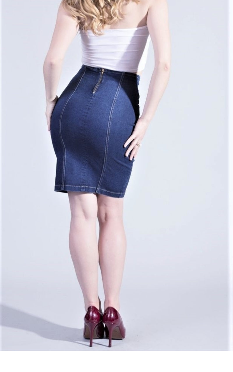 Denim Skirt High Waisted #20368