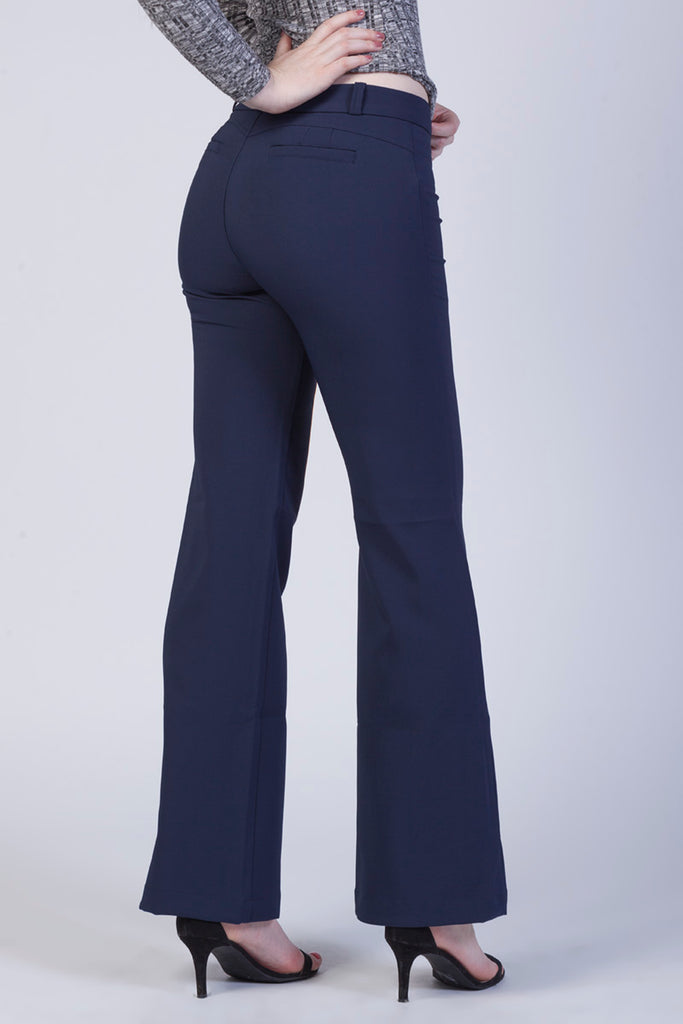 #32257NYB Wide-leg hight-rise trouser