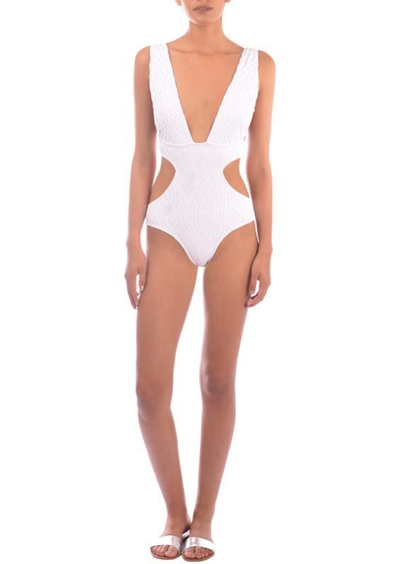 Paraiso Terrenal White One Piece 61