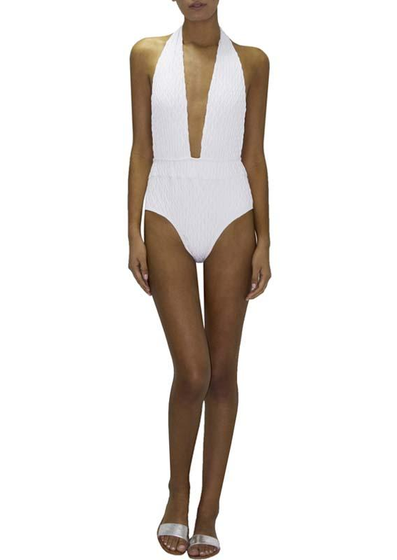 Paraiso Terrenal White One Piece 70