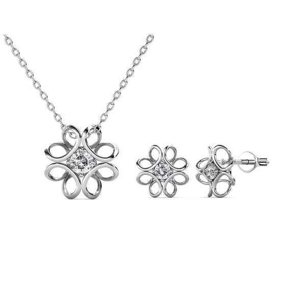 Chrysallis Earring Necklace Set - TrendiaStore