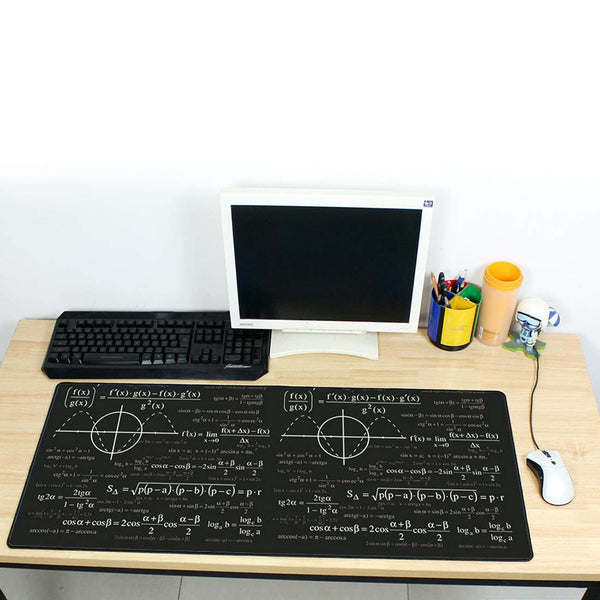 Large Geometric Formula Mouse pad Gamer Play mats