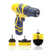 Cordless Drill Scrubber Set with 3 Attachments