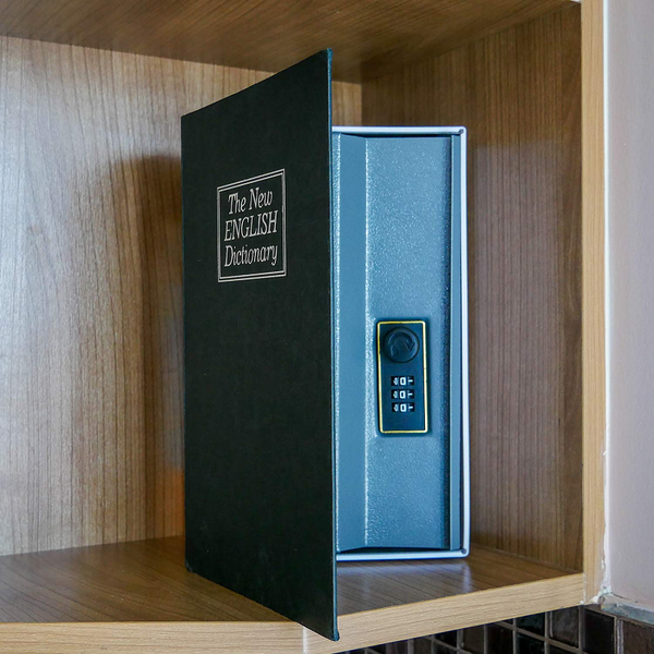 Heavy-Duty Book Safe with Combination Lock