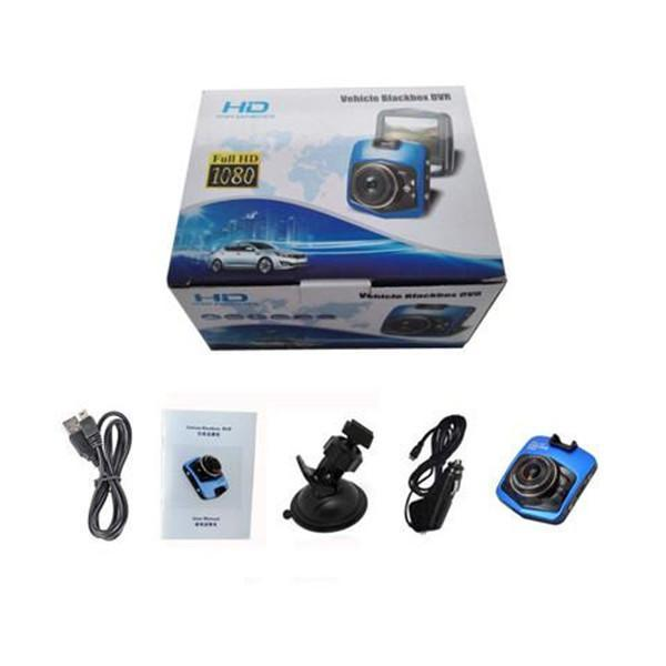CAR GT300 Full 1080p HD DVR Dash Camera With Night Vision - Black or Blue - TrendiaStore
