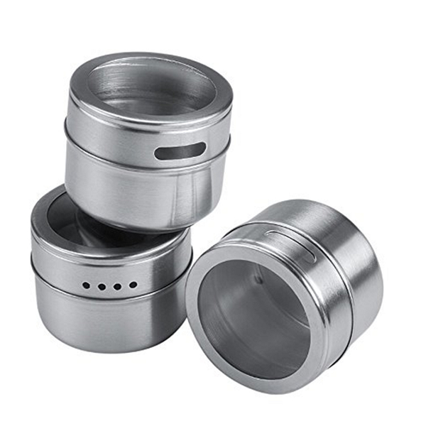 Set of 6 Magnetic Spice Storage Jars