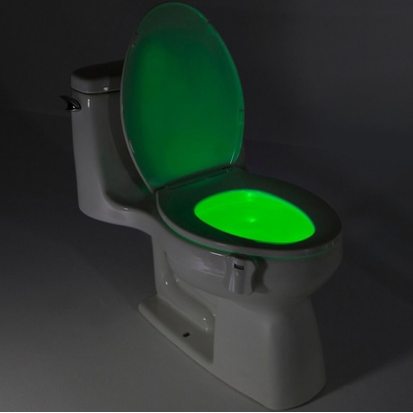 8-Color LED Sensor Motion-Activated Bathroom Toilet Light - TrendiaStore