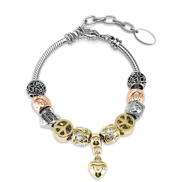 Cosmos With Mixed Gold Plate Bracelet - TrendiaStore