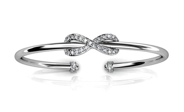Crystal Infinity Bracelet Bangle - TrendiaStore