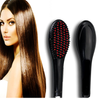 Black Hair Straightener Brush - TrendiaStore