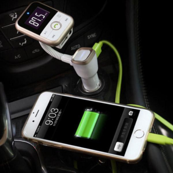 4-in-1 Wireless Car Kit: Bluetooth Receiver, FM Transmitter, Music Player & Charger - TrendiaStore