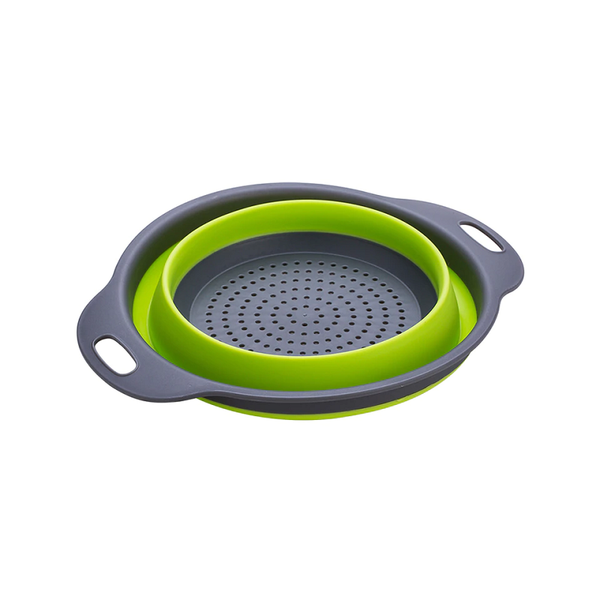 Silicone Collapsible Strainer, Salad Bowl And 3-in-1 Multipurpose Holder