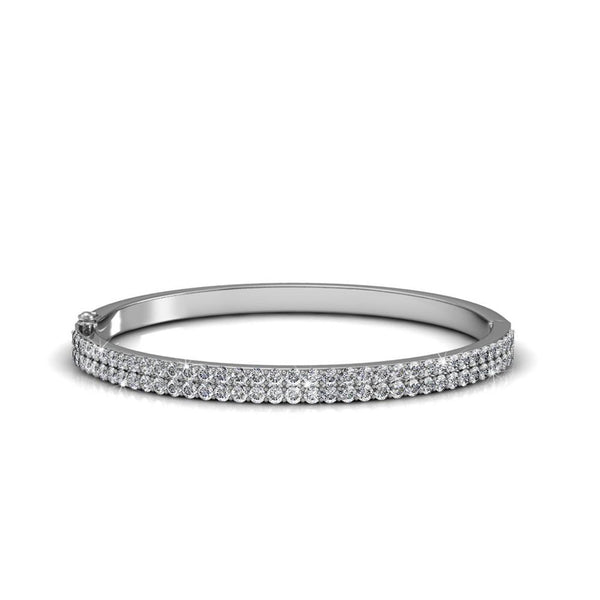 Saturnia Double Layer Studded Bangle - TrendiaStore