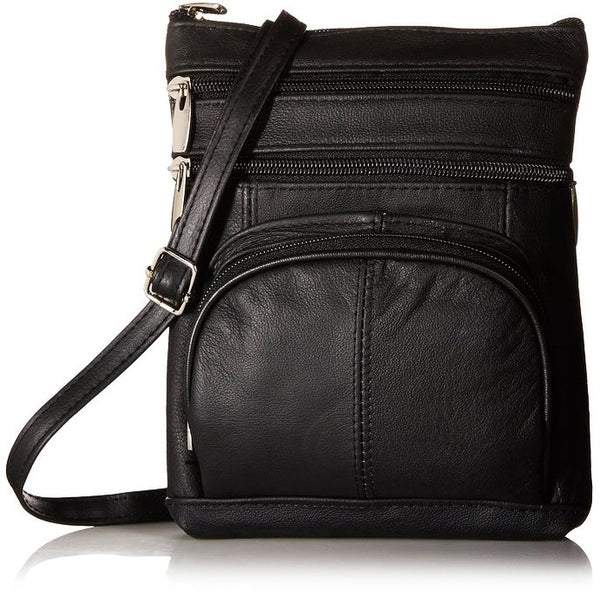 Pure Leather Cross body Purse with RFID Blocking