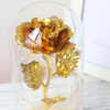 Gold Plated LED Rose in a Glass Dome