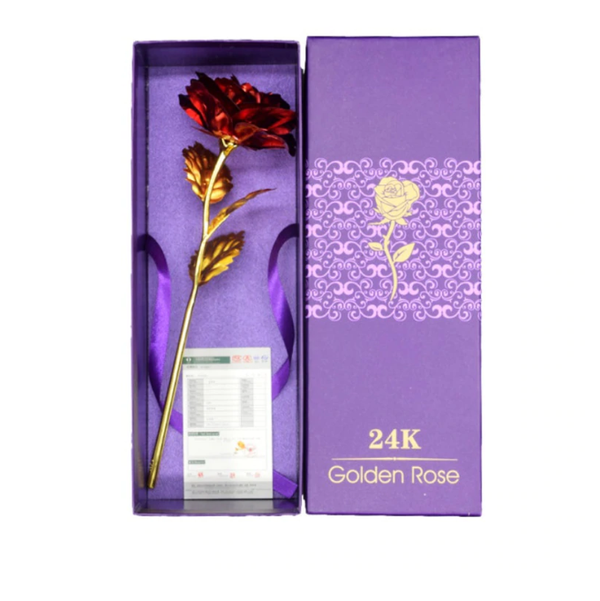 GOLD PLATED ROSE WITH A GIFT BOX