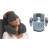4-Pcs Travel Flight Kit (Inflatable Neck Pillow, Slippers, Eye mask and Ear plugs) - TrendiaStore