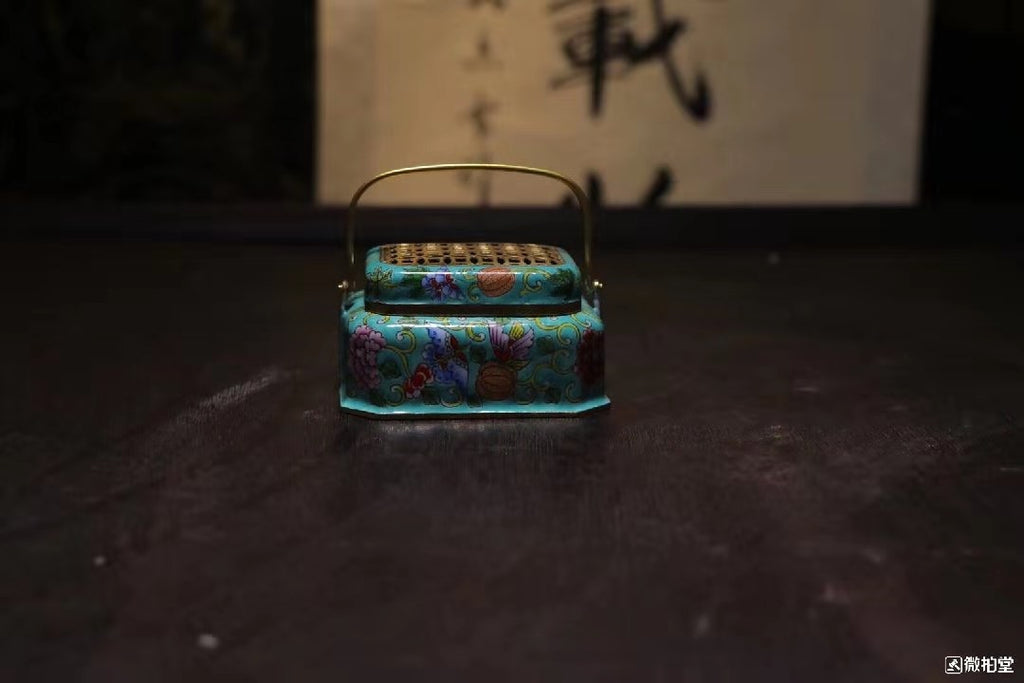old chinese cloisonne incense buner 景泰蓝熏香炉