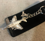 Pewter Warplane Keychains