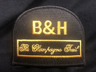 black B & H champagne trail patch