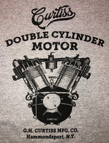 Curtiss Double Cylinder Motor T-Shirt