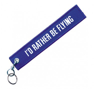 I'd Rather Be Flying Keychain