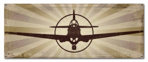 "P-40 Warhawk Vintage Metal Sign 24""x10"""