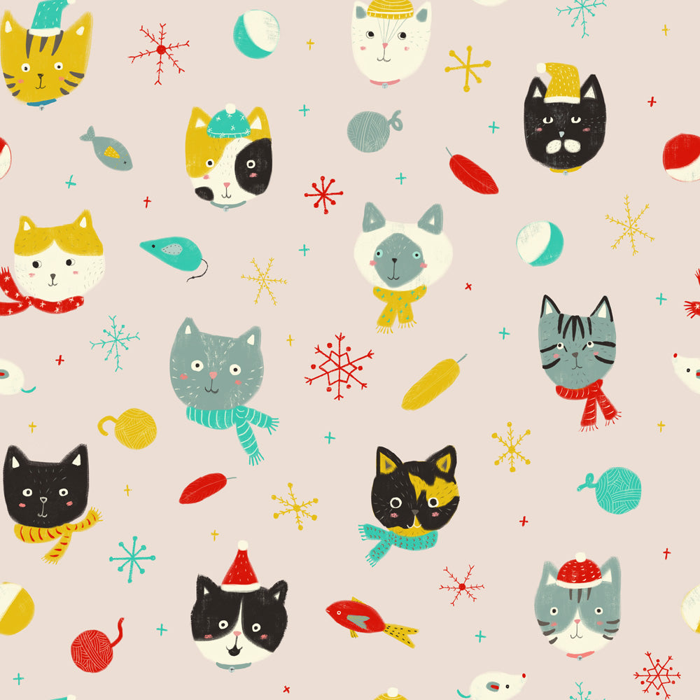 Winter Kitties Wrapping Paper Roll