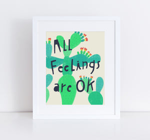 All Feelings Are OK, Giclee Art Print