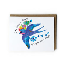 Blue Swallow Sympathy Card
