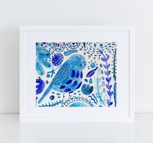 Bluebird of Happiness, Giclee Art Print