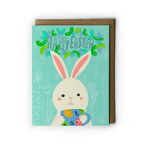 Easter Bunny Mug Greeting Card