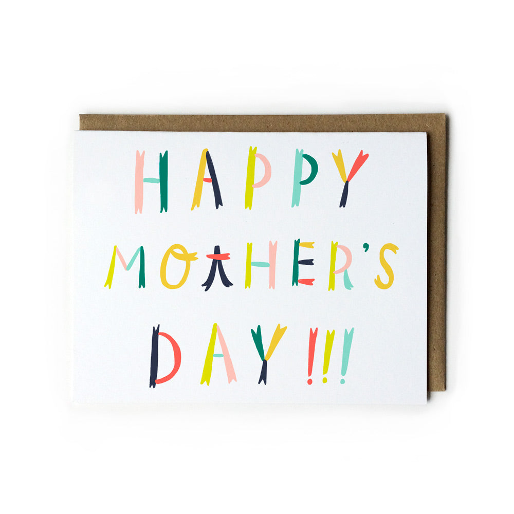 Colorful Lettering Mother's Day Card