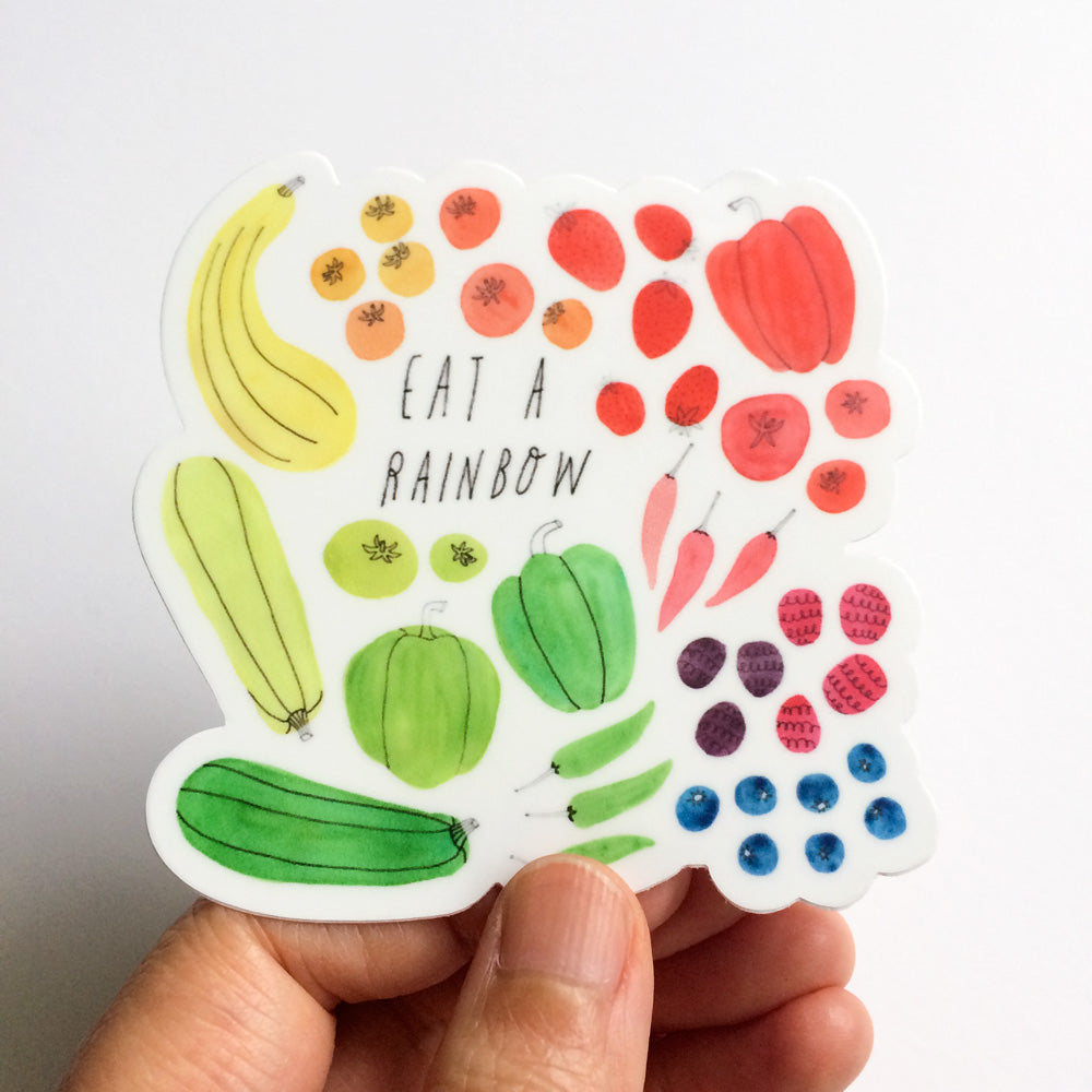Eat a Rainbow, Veggies Vinyl Sticker