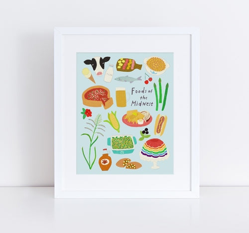 Foods of the Midwest, Giclee Art Print