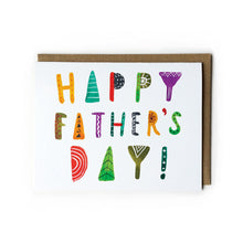 Watercolor Lettering Father's Day Card