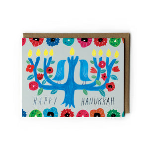 Menorah Tree Hanukkah Card