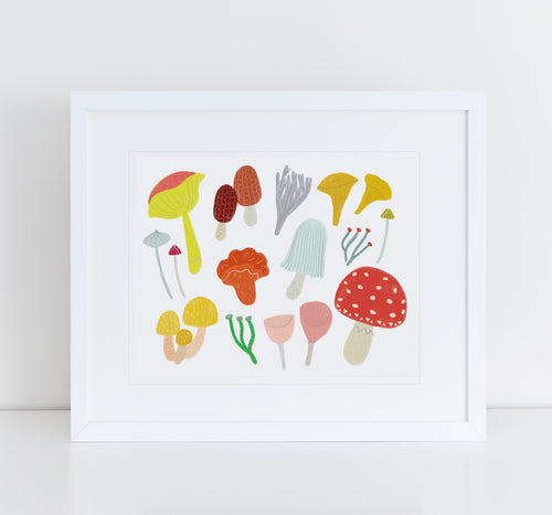 Mushrooms, Giclee Art Print