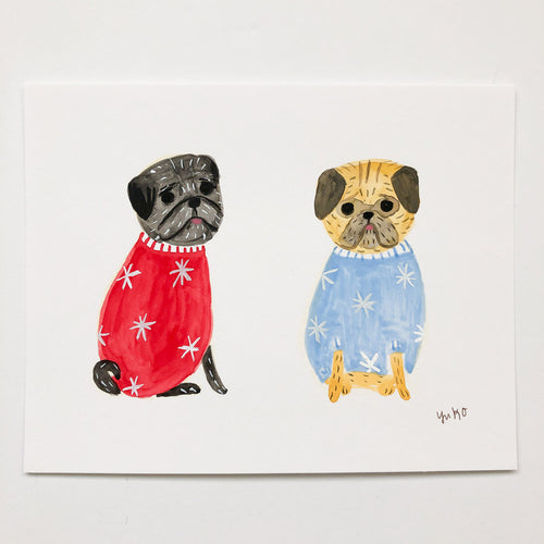 Pugs in Sweaters - 5.5
