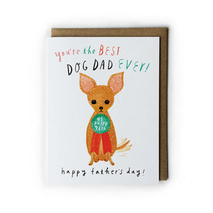 Puppy Papa Father's Day Card