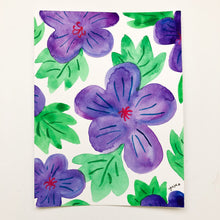 "Purple Flowers - 4.5""x6"""