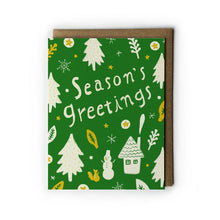 Season's Greetings Holiday Greeting Card - Multiple Colors