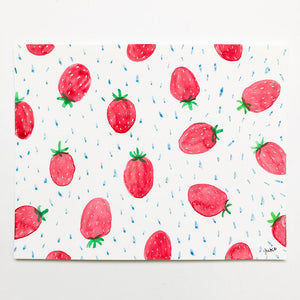 "Strawberry Pattern - 5.5""x7"""