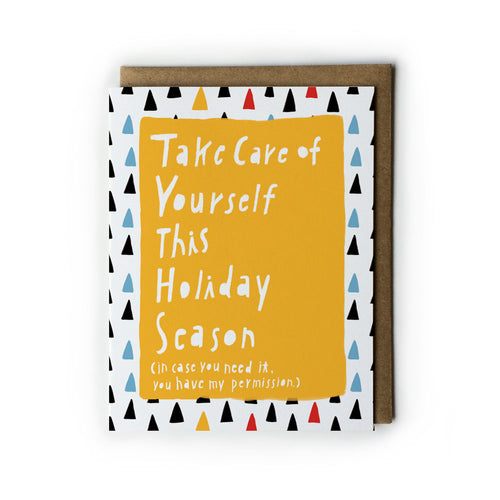 Take Care of Yourself This Holiday Season Card