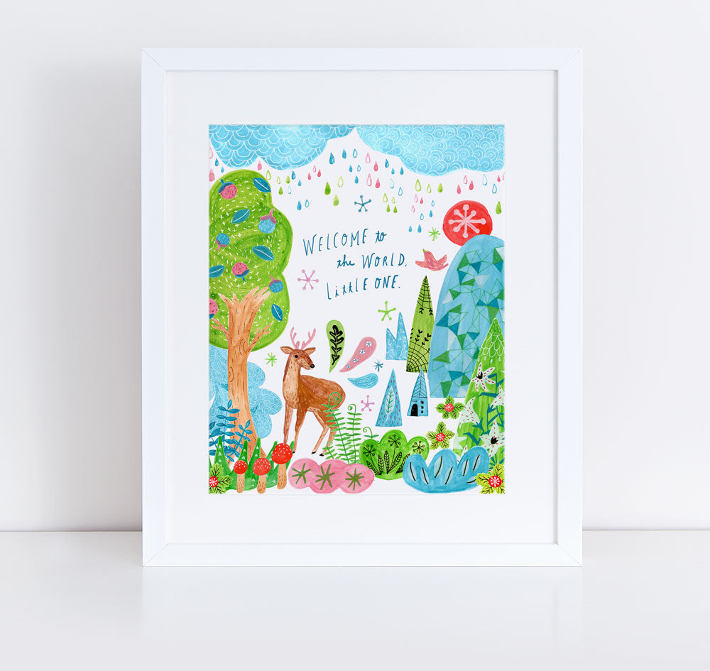 Welcome to the World, Little One, Giclee Art Print